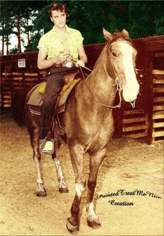 Elvis loved to ride.