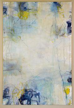 "Sea World III, 24""x36"" mixed media on canvas - Cathy Lancaster, 2014"