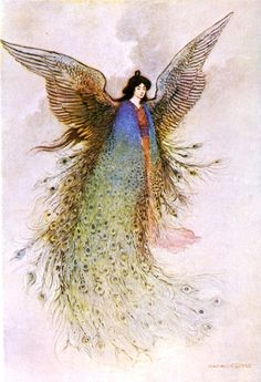 The Moon Maiden. Grace James, Green Willow and other Japanese Fairy Tales, illustrated by Warwick Goble (London, Macmillan and Co., 1979)