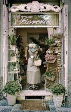 The Florist Shop Print By Karen Lewis
