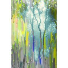 Parvez Taj 'Painted Tree Forest' Canvas Art.