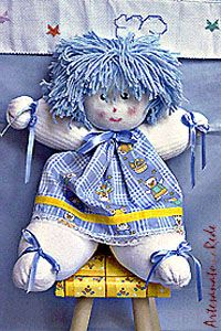 Passo à Passo: Bonecos: Boneca de Meia