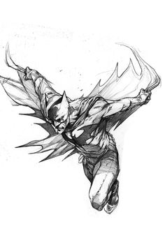 Bat Man illustration Artist unknown
