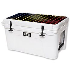 MightySkins Protective Vinyl Skin Decal for YETI Tundra 45 qt Cooler Lid wrap cover sticker skins Primary Honeycomb * You can get more details by clicking on the image.-It is an affiliate link to Amazon. #CampKitchenEquipment