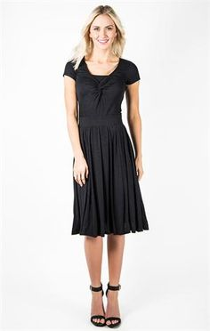 This dress is pretty and modest. It also looks very comfortable.