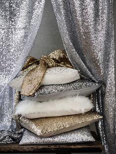 H&M Home kerstcollectie - Metalics & pailletten - Kerst in de keuken | ELLE Decoration NL