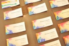 while the sun shines: how to make watercolor business cards