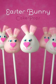 Easter Bunny Cake Pops by Bakerella...so cute, but I would never make them! LOL