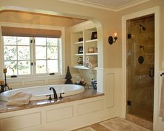 Shelves Beside Garden Tub Design, Pictures, Remodel, Decor and Ideas - page 3