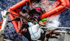 More than 660 saved by flotilla of coast guard and navy ships in one day as warmer weather leads to surge of people attempting to cross from Africa