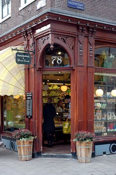 32 vintage bakery shop store fronts window displays - Savvy Ways About Things Can Teach Us I Amsterdam, Amsterdam Netherlands, Boutiques, Store Front Windows, Corner Bakery, Bakery Store, Vintage Bakery, Shop Fronts, Shop Window Displays