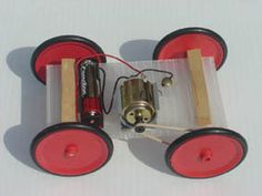 simple electric car kit with basic instructions, could probably make this out of parts we have
