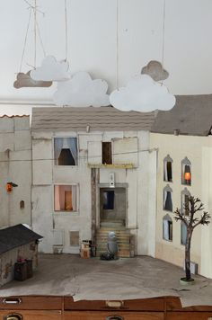 Memoire no 1 by Camilla Engman Tableaux Vivants, Paper Art, Paper Crafts, Floating In Space, Toy Theatre, Cardboard Art, Cardboard Furniture, Up Book, Stage Design