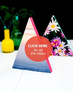 DIY Neon Triangle Photo Frames — Rachael Mary