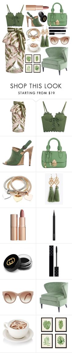 """Olive Branch"" by pulseofthematter ❤ liked on Polyvore featuring Johanna Ortiz, Puma, Bottega Veneta, Sarah Chofakian, Charlotte Tilbury, MAC Cosmetics and Gucci"