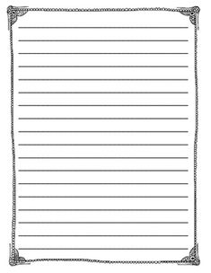 This product is to use in your writing block as final draft paper when you have your students publish a piece. Please let me know what you think! Teaching Writing, Writing Prompts, Draft Letter, Lined Writing Paper, Printable Lined Paper, Carnegie Mellon, First Grade Writing, Borders For Paper, Never Stop Learning