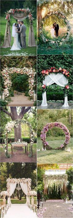 Green floral wedding