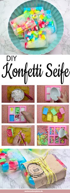soap yourself is easy and a great gift. Confetti soap with child . Making soap yourself is easy and a great gift. Confetti soap with child . Making soap yourself is easy and a great gift. Confetti soap with child . Diy Gifts To Sell, Crafts To Sell, Diy And Crafts, Crafts For Kids, Homemade Soap Recipes, Homemade Gifts, Diy Para A Casa, Home Made Soap, Birthday Presents