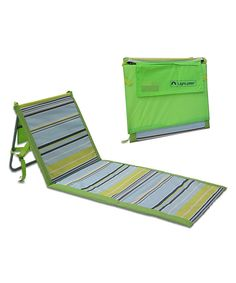 Look at this Lightspeed Green & Blue Stripe Beach Lounger - Set of Two on #zulily today!