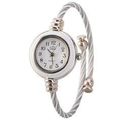 Metal Weave Design Bracelet Quartz Movement Round Dial Wrist Watch White SOUNDASIA http://www.amazon.com/dp/B00EU9AKUC/ref=cm_sw_r_pi_dp_A5vfvb0M014ZF