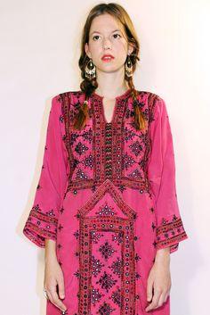 Tavin Boutique - Vibrant Pink Afghan Dress