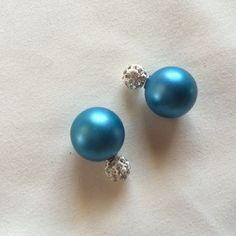 Teal double earrings Reasonable offers accepted.  Bundle two $6 or $7 items for $10trades/PP Jewelry Earrings
