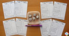Place Value Yahtzee Materials