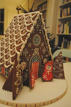 Simple-Inspiring  Gingerbread House Ideas-6