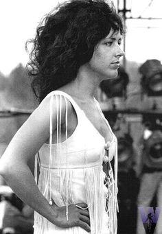 Grace Slick at Woodstock.