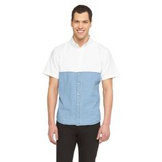 Men's Short Sleeve Colorblock Shirt Indigo - No Retreat