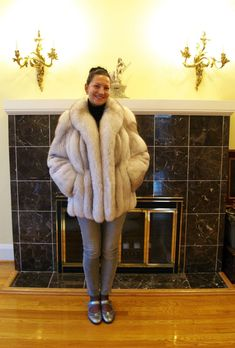 White Fox, Blue And White, Fox 11, Arctic Fox, Fur Jacket, Coats For Women, Sexy Women, Glamour, Style Inspiration