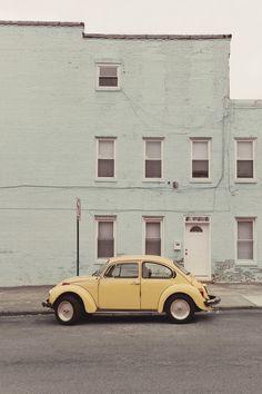 Pastel street VW Bug :)