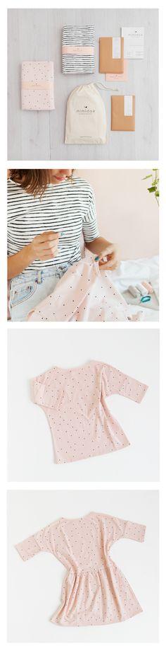 KIT | DIY . Crea una camiseta y un vestido para tu pequeña princesa.__________________ SEWING KIT for make a dress and tee.