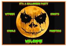 Halloween Party Invitations - Will Clark Art William Clark, Clark Art, Halloween Party Invitations, Pumpkin Carving, Prints, Cards, Pumpkin Carvings, Maps, Playing Cards