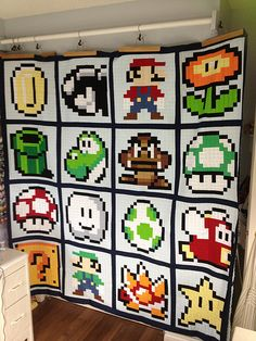 Mario Brothers Quilt Top | by MoonlitStitches - inspiration for C2C graphghan?
