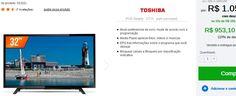 "TV LED 32"" TCL HD 2 HDMI 1 USB Conversor Digital 32L1500 << R$ 95310 >>"