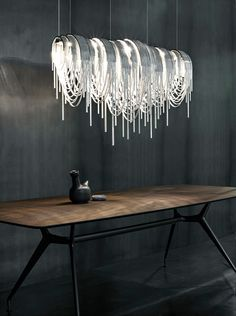 Volver LED pendant by Terzani looks like spaghetti
