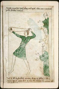Navarre Picture Bible, Pamplona, Spain, 1197AD: David