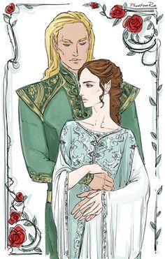 """Tamlin & Feyre (again again) (""""A Court of Thorns and Roses"""" by Sarah J. Maas @ sjmaas.tumblr.com/ ) by phantomrin on tumblr"""