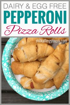 See post for a video tutorial, too. appetizers no dairy Pepperoni & Cheese Crescent Rolls Dairy-Free Dairy Free Appetizers, Dairy Free Snacks, Dairy Free Diet, Dairy Free Dinners, Dairy Free Baking, Lactose Free, Dairy Free Recipes For Kids, Egg Free Recipes, Allergy Free Recipes