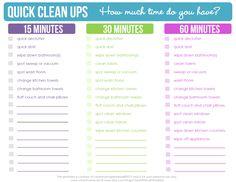 Quick Clean Ups - Clean Mama