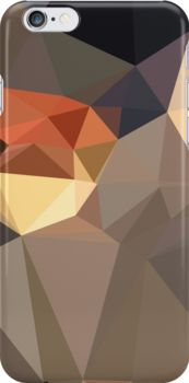 Cool Black Blue Brown Abstract Low Polygon Background by retrovectors