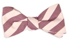 High Cotton Ties | Purple and White Oxford Stripe Bow Tie