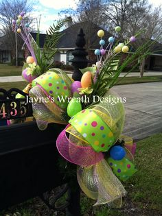 Easter Mailbox swag