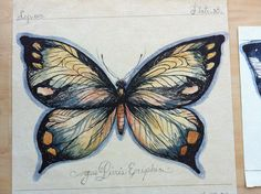 Butterfly painting mixt media Tina Elfast