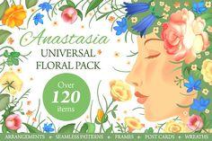 Anastasia Floral Graphics Pack by Maria Averburg Studio on @creativemarket