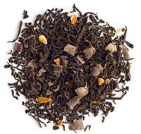 Chocolate Orange: Pu'erh tea, chocolate curls, orange peel and slices, natural and artificial flavouring*