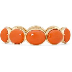 Liz Claiborne Coral Stone Gold-Tone Stretch Bracelet (€23) ❤ liked on Polyvore featuring jewelry, bracelets, fillers, stone jewellery, liz claiborne, coral jewelry, coral stone jewelry and coral jewellery