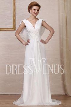 Chic Empire V-neck Wedding Dress