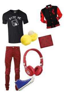 """Sollux"" by cydnneyl on Polyvore featuring AMIRI, Beats by Dr. Dre, Converse, Eos, Gucci, men's fashion and menswear"